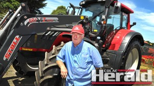 """Colac farm machinery dealer Greg Allan says customers care most about """"back-up service"""", which they can get by using a dealer in their community."""