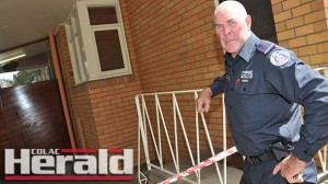 : Colac firefighter Mike Evans returned from extinguishing blazes across Victoria to find vandals had smashed windows at his property.