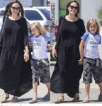 Otra hija de Angelina Jolie y Brad Pitt con atuendo muy masculino