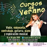 La Escuela de Música abre inscripciones para Cursos de Verano.
