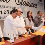 Clausura SEP, ciclo 2018-2019 en ceremonia de graduación de Secundaria Morelos.