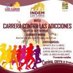 """INDEM Los Cabos invita a la ciudadanía a participar en la """"Carrera Contra las Adicciones"""""""