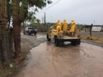 Autoridades municipales en Loreto, realizan recorridos de prevención por las lluvias torrenciales.