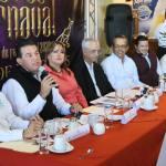 """Presentan cartelera carnestolenda para el Carnaval La Paz 2020 """"Fiesta de los Dioses""""."""