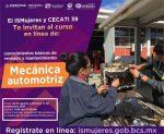 ISMUJERES INVITA A CURSAR EN LÍNEA TALLER DE MECÁNICA AUTOMOTRIZ Y CARPINTERÍA