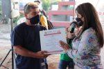 Aún sin ingresos en las arcas municipales, alcaldesa Armida Castro mantiene su palabra de entregar obras para las familias de Los Cabos