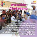 Rompe récord el Ayuntamiento de Los Cabos al resolver más de 21 mil peticiones ciudadanas en Audiencias Públicas
