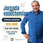 REALIZARÁN JORNADA DE VASECTOMÍA SIN BISTURÍ EN TODOS SANTOS