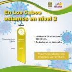 Los Cabos se mantiene en nivel 2 del Sistema de Alertas Sanitarias en BCS; exhortan las autoridades a mantener las medidas de salud