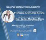 INVITA ARELY ARCE A LA ENTREGA DEL DOCUMENTO DEL TERCER INFORME DE GOBIERNO ANTE CABILDO