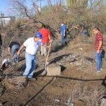 """Jornada de limpieza en la UABCS tras el paso del huracán """"Olaf"""""""
