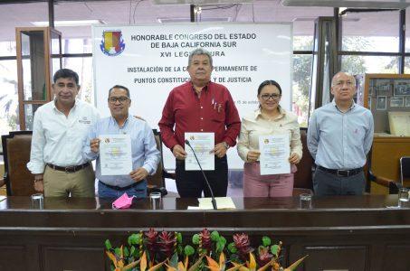 Lista comisión de Puntos Constitucionales y de Justicia para atender trabajo legislativo