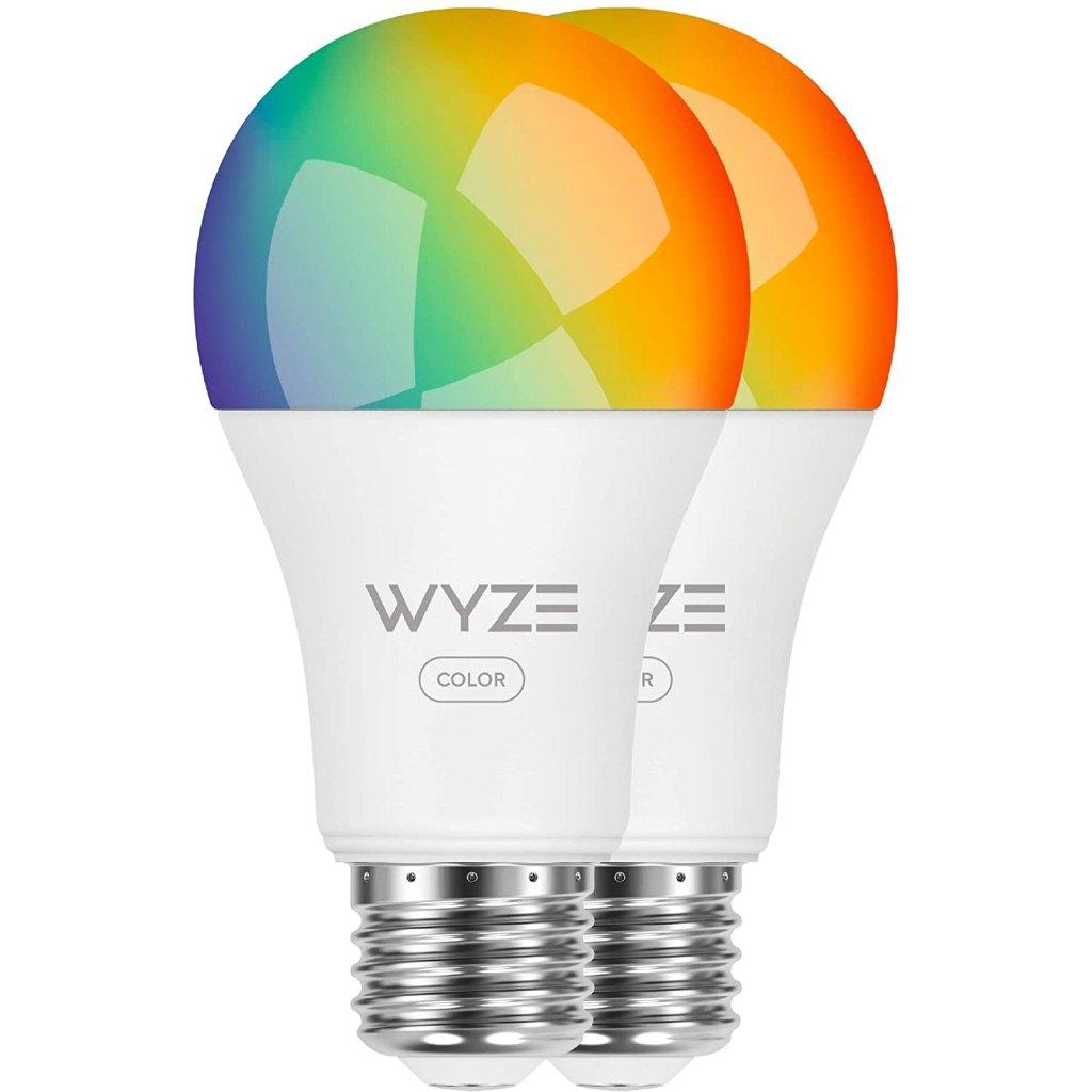 Two Wyze color bulbs