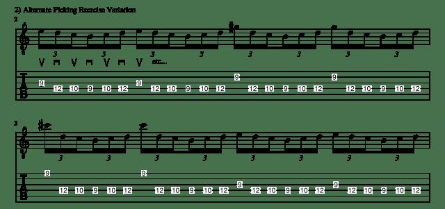 Alternate picking exercise 2 guitar lessons