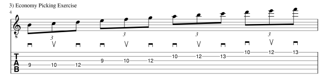 Economy picking exercise 1 guitar lessons
