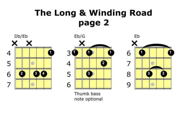 the long and winding road chords page 2