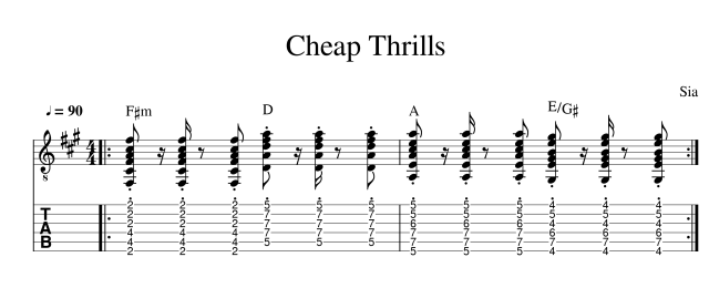 cheap thrills tab