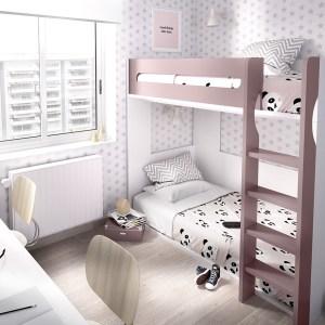 Beliche c/ cama inferior + gavetas + armario conjunto Hab 307 1