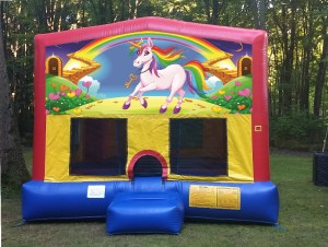 Picture of a Unicorn banner on a bounce