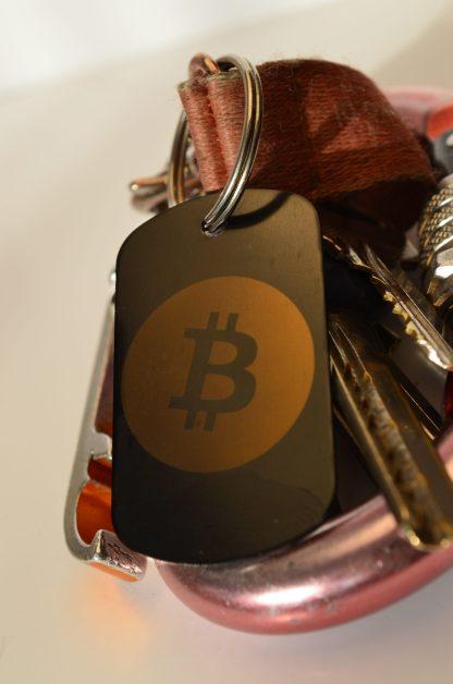 Brelok nieśmiertelnik Bitcoin BTC - przód