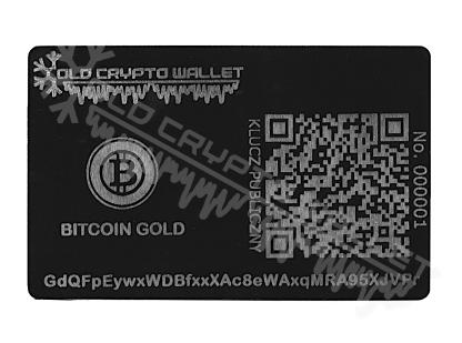 Portfel Bitcoin Gold Polski - przód