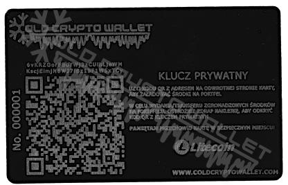Portfel Litecoin Polski - tył