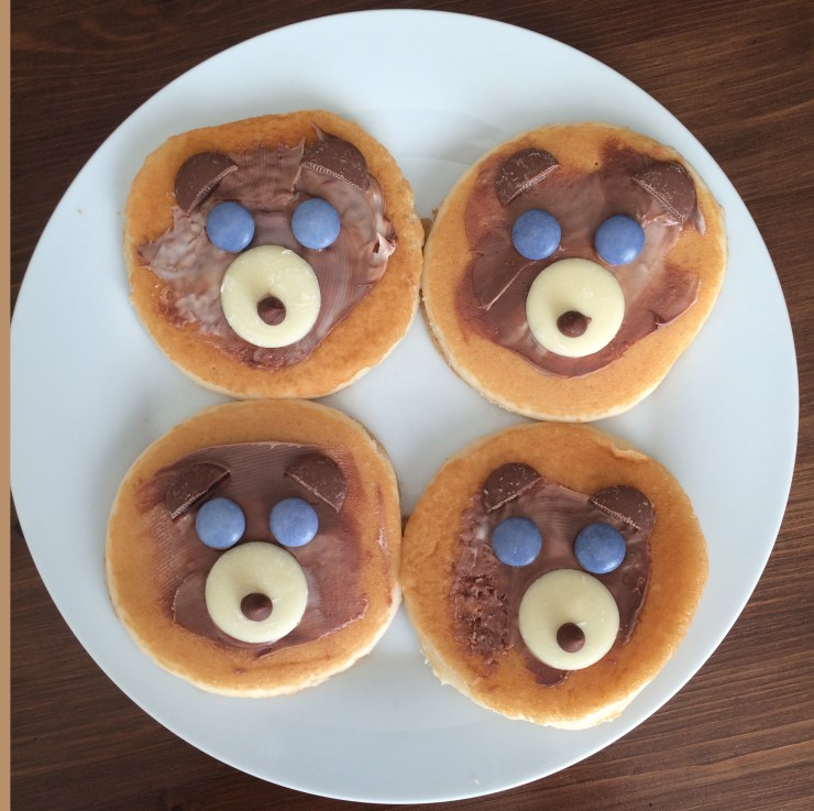 Teddy Bear pancakes #coldcuppaclub