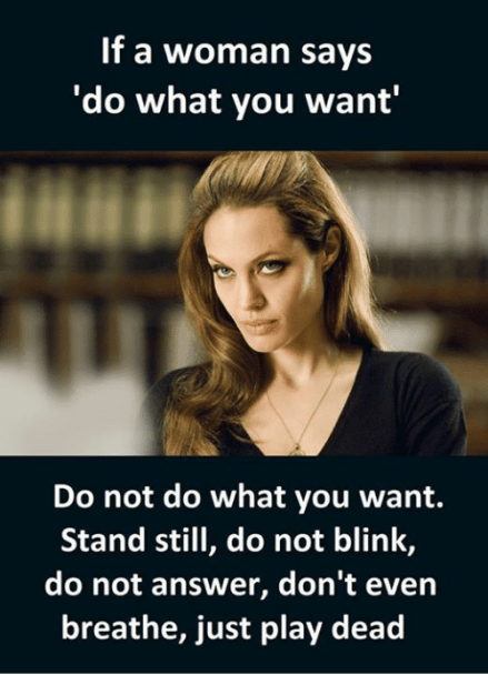 what you want from a woman