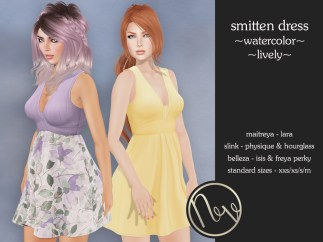 Smitten_Dress_Watercolor+Lively