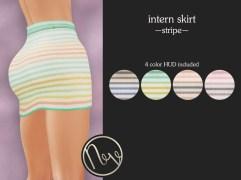 Neve Skirt - Intern - Stripe