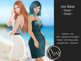 Neve Dress - Vivi - Linear + Lively