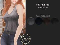Neve Top - Cali Knit - Neutral