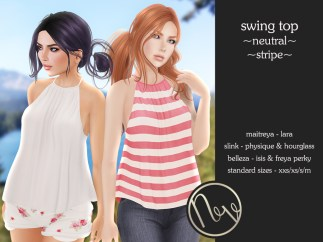 Neve Top - Swing - Neutral + Stripe