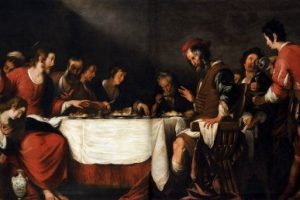 Bernardo_Strozzi_-_Banquet_at_the_House_of_Simon_Dinner, Real and Reputed