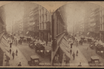 Up_Broadway_from_Metropolitan_Hotel,_by_Rau,_William_Herman,_1855-1920_2