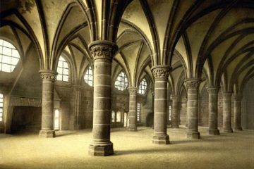 Knights'_hall,_la_Merveille,_abbaye_de_Mont-Saint-Michel,_Normandy,_France,_ca._1895