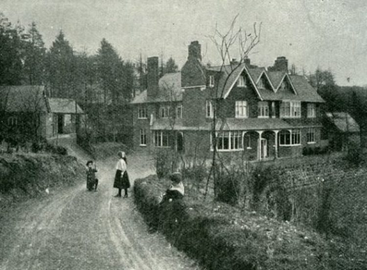 """Arthur Conan Doyle's children playing on the driveway that leads to his home at that time, Undershaw,"" Image Courtesy, Victorian Society."