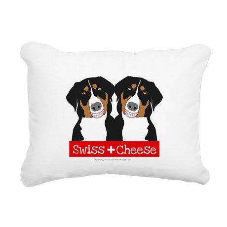 Swiss Mountain dogs on pillow