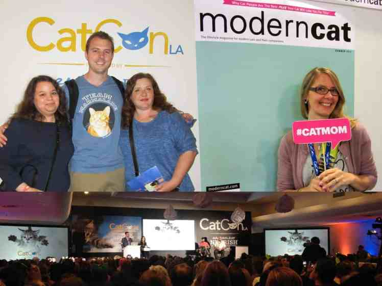 LEFT- Chris and CAM fans • RIGHT- Jess at the Modern cat selfie booth • BOTTOM- Cat Chat :)