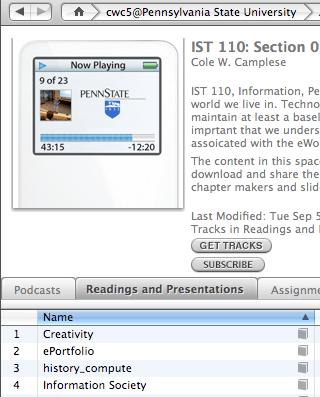 iTunes U List