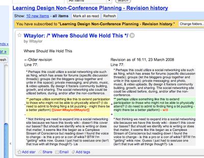 Wiki RSS