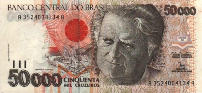 Brazil 50000 Cruzeiro 1992.300dpi