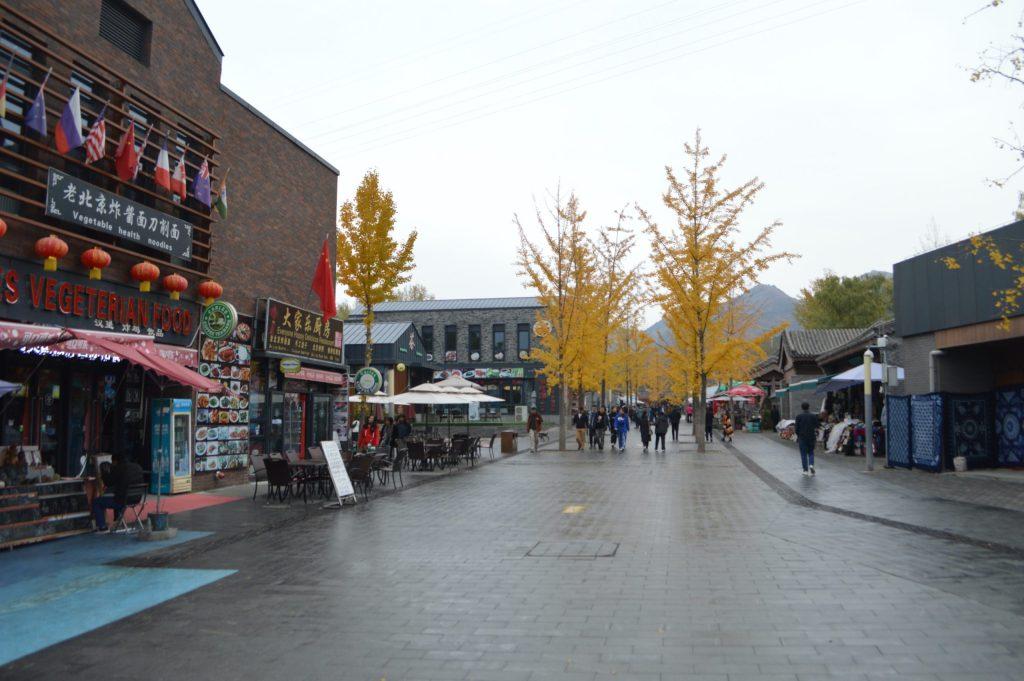 Tiendas en la entrada de la Gran Muralla