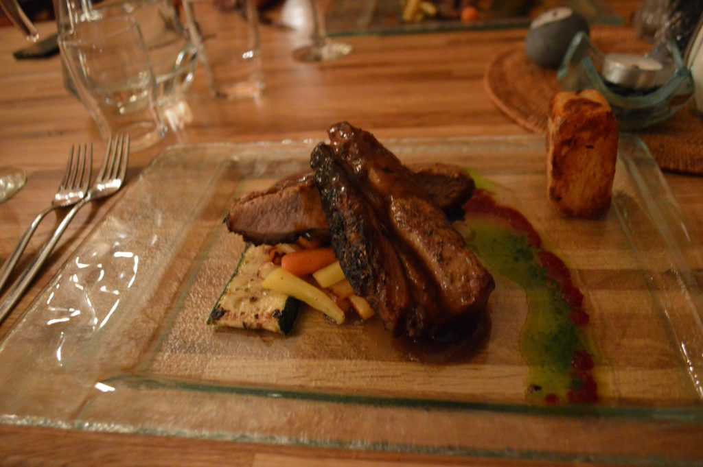 Roasted pork is one of the main dishes at Hotel Katla