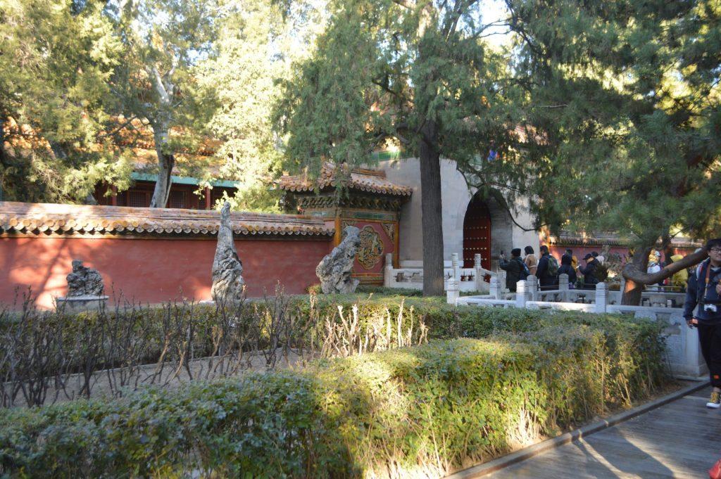 Jardines imperiales en el patio interior