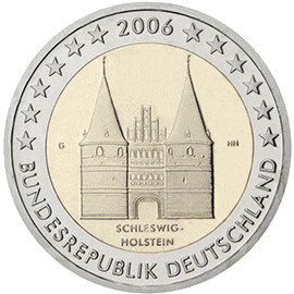 Moneda Conmemorativa de 2 Euros de Alemania 2006 - Schleswig-Holstein