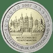 Moneda Conmemorativa de 2 Euros de Alemania 2007 - Mecklenburg-Vorpommern
