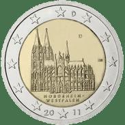 Moneda Conmemorativa de 2 Euros de Alemania 2011 - Nordrhein-Westfalen