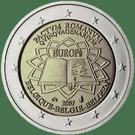 Moneda Conmemorativa de 2 Euros de Bélgica 2007 - Conmemorativa Común por el 50 Aniversario del Tratado de Roma