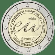 Moneda Conmemorativa de 2 Euros de Bélgica 2010 - Presidencia del Consejo de la UE